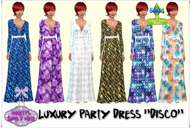 Sims 4 Luxury Party Dress Disco at Annett's Sims 4 Welt