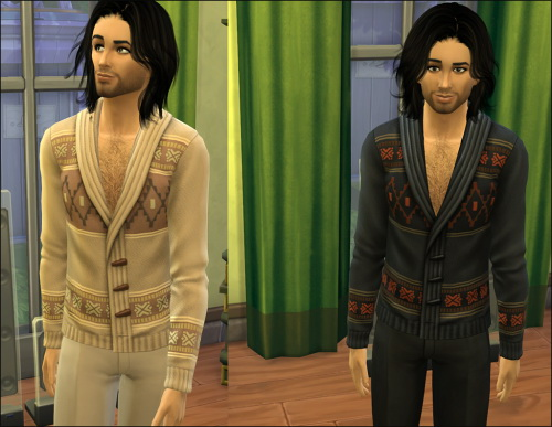Sims 4 Maxis Male Cardigan Edited at Julietoon – Julie J