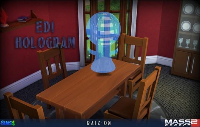 EDI hologram from Mass Effect 2 at Raiz On image 13019 670x426 Sims 4 Updates