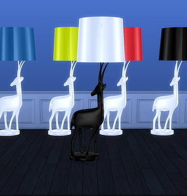 Gazelle Floor Lamp at Meinkatz Creations image 1306 Sims 4 Updates