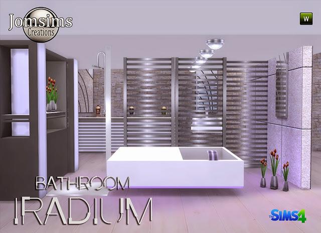 Sims 4 Iradium bathroom at Jomsims Creations
