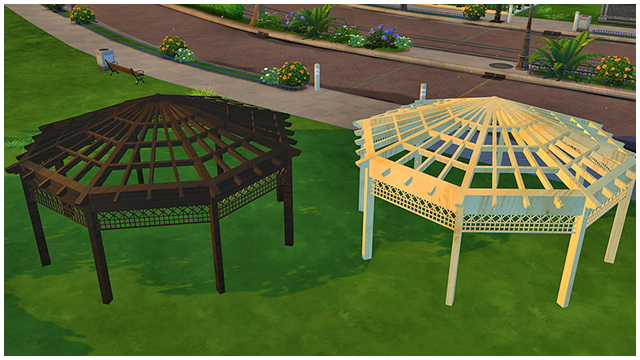 Sims 4 Outdoor Gazebo by Marco13 at Sims Fans