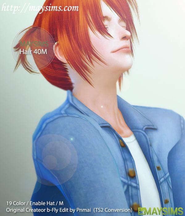 Hair 40 M (B fly) at May Sims image 1316 Sims 4 Updates