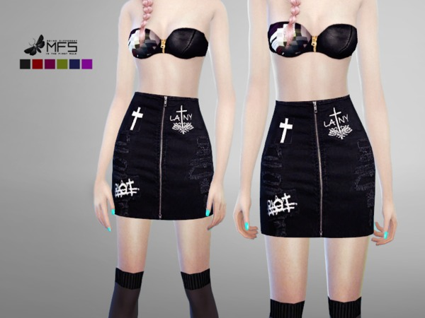 MFS Riot Skirt by MissFortune at TSR image 1320 Sims 4 Updates