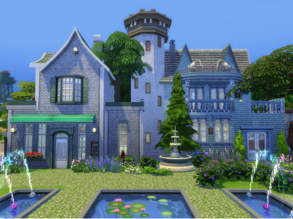 Sims 4 Welch Town Square by Ineliz at TSR