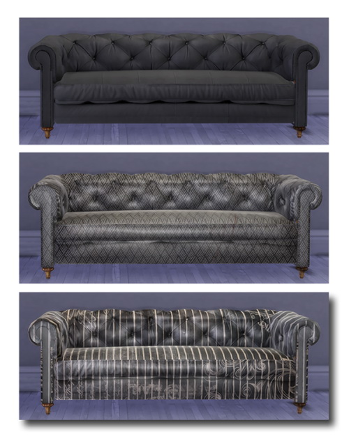 Sims 4 Nemestnaya's Chesterfield Sofa at Msteaqueen
