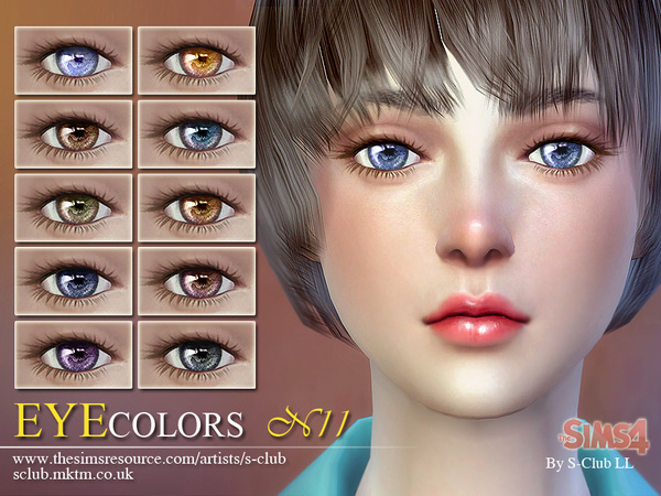 Sims 4 Eyecolors 11 by S Club LL at TSR