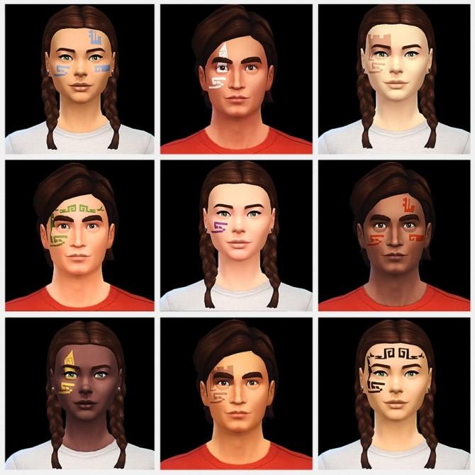 Sims 4 DAO Tattoo Series Dwarven Commoner at ThatMalorieGirl