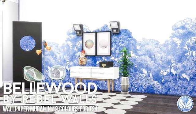 Sims 4 Bellewood Mural Rebel Walls at Simsational Designs