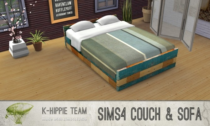 Sims 4 7 Wood Beds Madura Serie volume 1 at K hippie
