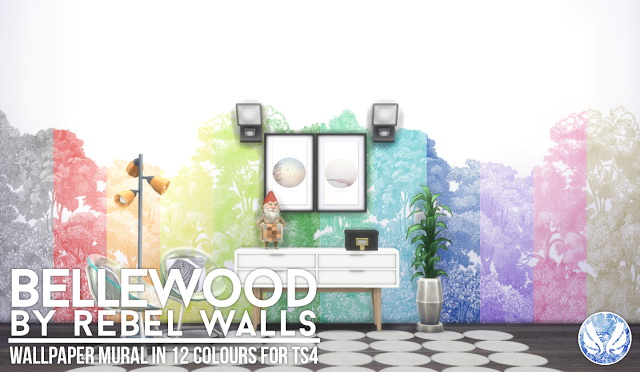 Bellewood Mural Rebel Walls at Simsational Designs image 13616 Sims 4 Updates