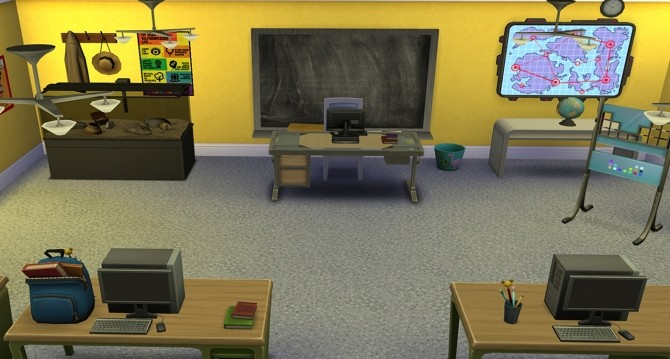 Sims 4 School chalkboard recolors by nightstar at Mod The Sims