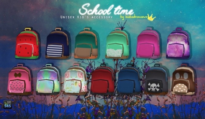 School Time Backpack At In A Bad Romance 187 Sims 4 Updates
