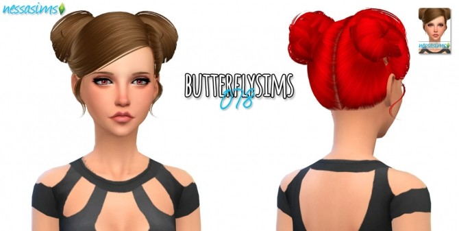 Sims 4 Mini Hair Dump #1 (Butterfly Sims) at Nessa Sims