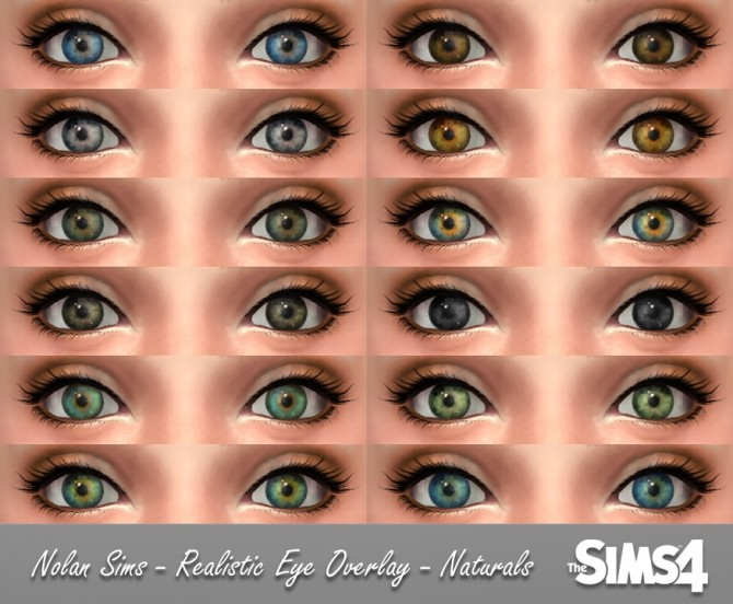 realistic eyes overlay at nolan sims sims 4 updates