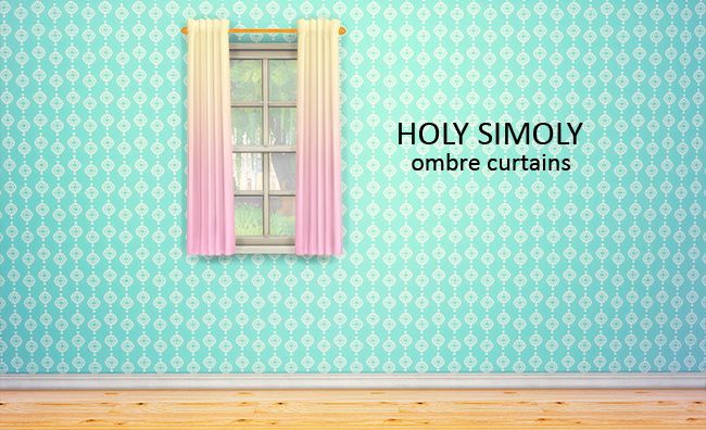 Holy Simolys Simple elegant curtains 8 ombre recolors at Lina Cherie image 14123 Sims 4 Updates