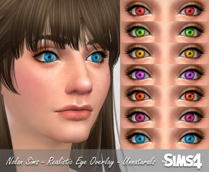 Realistic Eyes Overlay At Nolan Sims » Sims 4 Updates