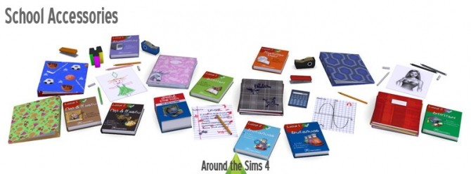 School Accessories at Around the Sims 4 image 1445 670x248 Sims 4 Updates