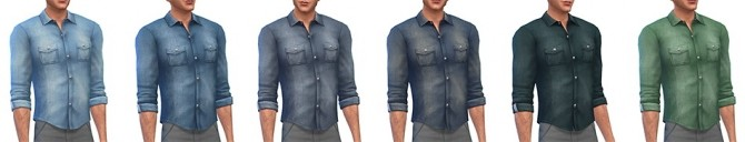 Denim shirt for males at Simsontherope image 1457 670x128 Sims 4 Updates