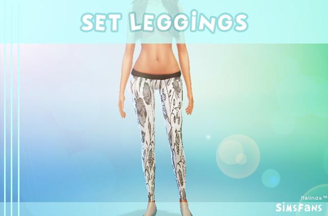 Sims 4 Set Leggings by Melinda at Sims Fans