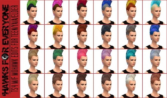 Sims 4 Mohawk conversion at Jorgha Haq