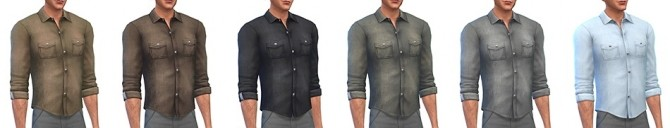 Denim shirt for males at Simsontherope image 1468 670x128 Sims 4 Updates