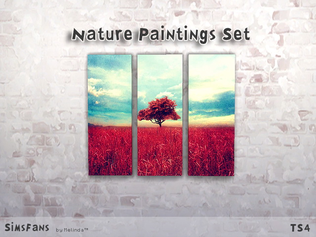 Sims 4 Nature Paintings Set by Melinda at Sims Fans