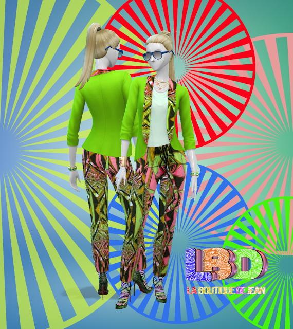 Sims 4 Custo#LBD fashion collection at La Boutique de Jean