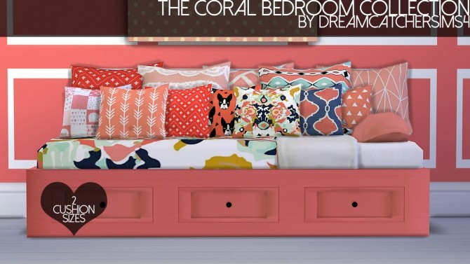 Sims 4 The Coral Bedroom Collection at DreamCatcherSims4