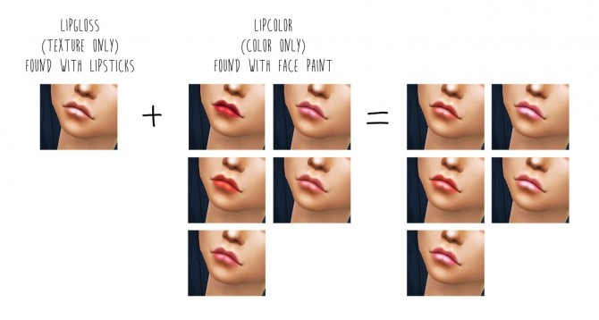 Sims 4 Sugar Town Lip Gloss + Lip Color at Dani Paradise