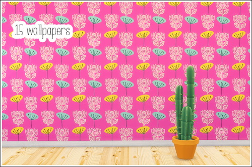 15 wallpapers at Lina Cherie image 1489 Sims 4 Updates