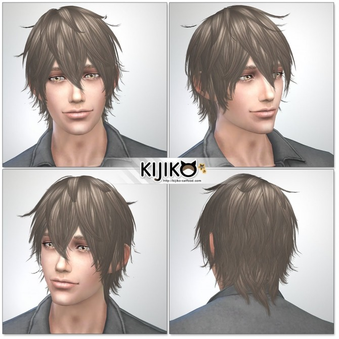 Night Fog hair TS3 to TS4 conversion (Male) at Kijiko image 14917 670x670 Sims 4 Updates