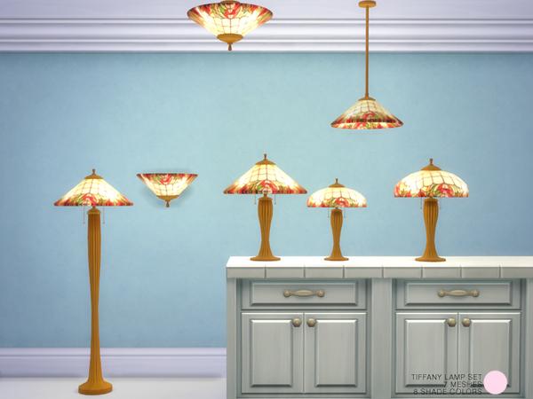 Tiffany Lamp Set by DOT at TSR image 1495 Sims 4 Updates