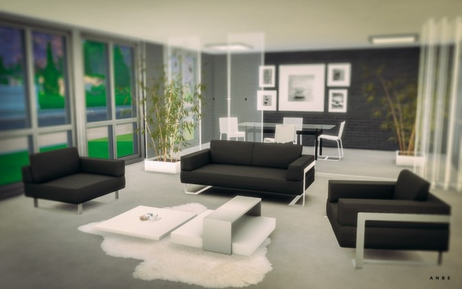 Toronto living room at alachie brick sims sims 4 updates for Living room ideas sims 3