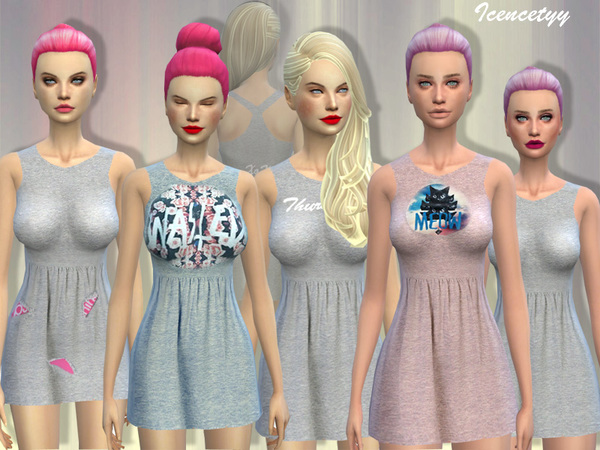 Sims 4 Casual dress v3 by icencetyy at TSR