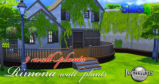 Rimona wall plants 9 styles at Jomsims Creations image 15010 Sims 4 Updates
