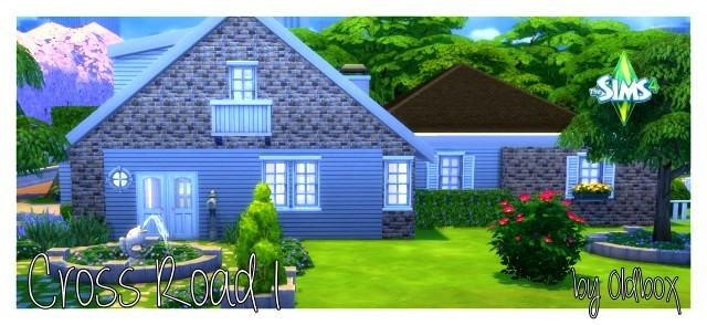 Cross house by Oldbox at All 4 Sims image 15014 Sims 4 Updates