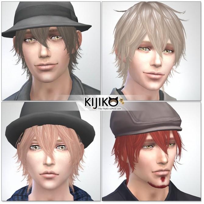 Night Fog hair TS3 to TS4 conversion (Male) at Kijiko image 15018 670x670 Sims 4 Updates