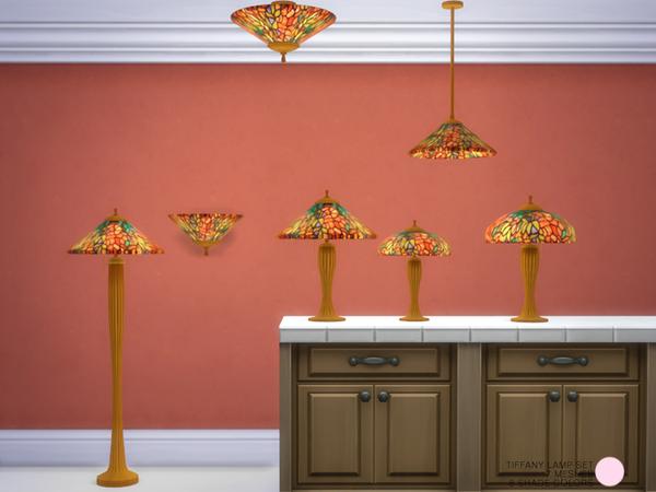 Tiffany Lamp Set by DOT at TSR image 1505 Sims 4 Updates