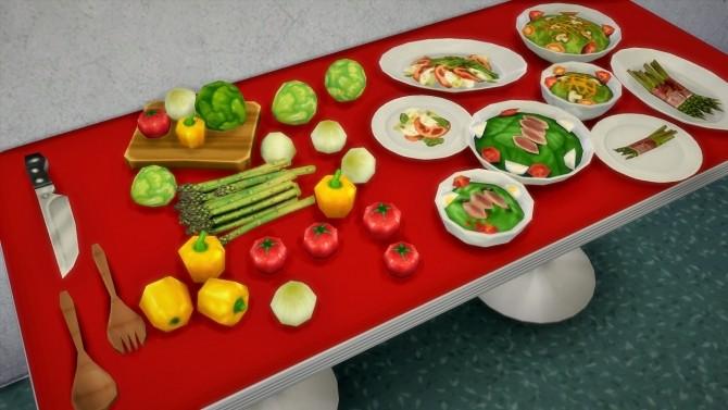 Sims 4 Salad and veggies (+knife and salad tools) at Budgie2budgie