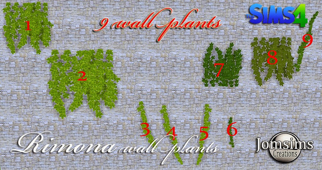 Rimona wall plants 9 styles at Jomsims Creations image 15116 Sims 4 Updates