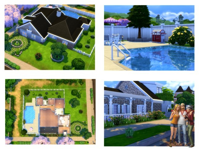 Cross house by Oldbox at All 4 Sims image 15120 Sims 4 Updates