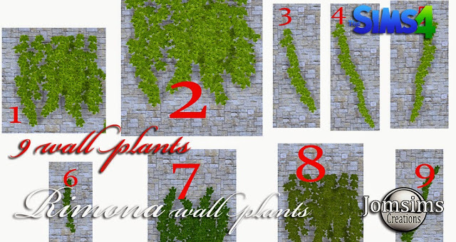 Rimona wall plants 9 styles at Jomsims Creations image 15212 Sims 4 Updates