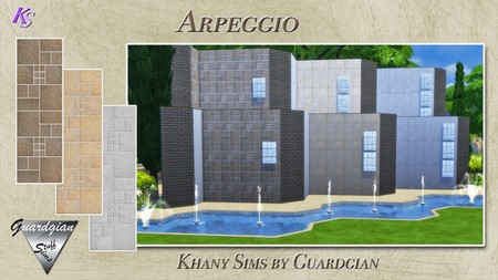 ARPEGGIO and STACCATO walls by Guardgian at Khany Sims image 1527 Sims 4 Updates