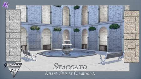 ARPEGGIO and STACCATO walls by Guardgian at Khany Sims image 1536 Sims 4 Updates