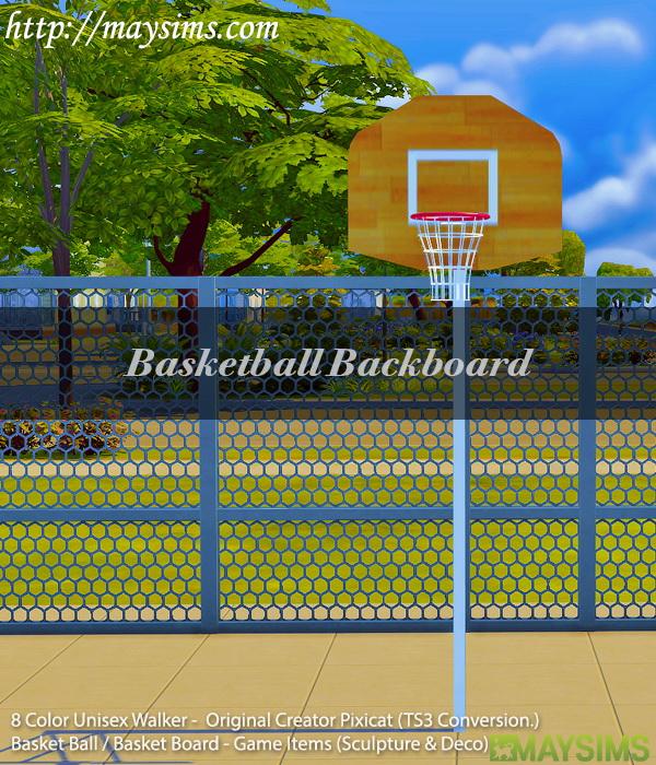 Sims 4 Walker & Basketball Set at May Sims