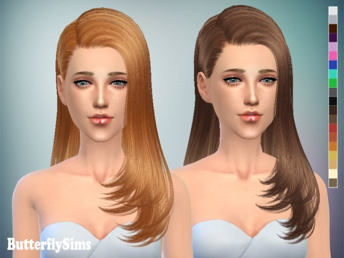 B fly Hair 077 (FREE) by Yoyo at Butterfly Sims image 1553 670x503 Sims 4 Updates