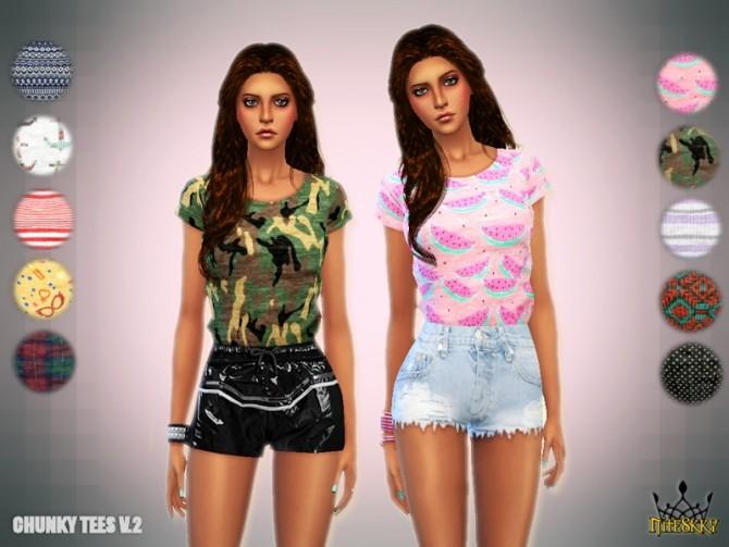 Sims 4 Chunky Tees V.2 at NiteSkky Sims