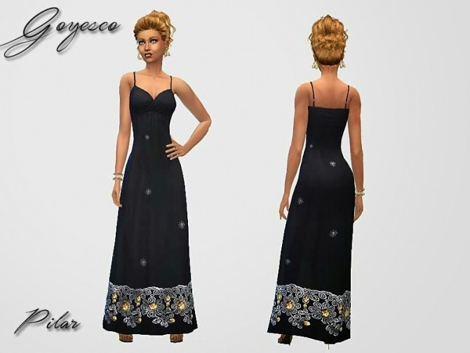 Goyesco Gown by Pilar at SimControl image 1585 670x503 Sims 4 Updates