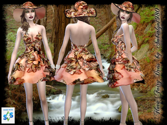 Sims 4 Flora Fairy hat and dress at Amberlyn Designs